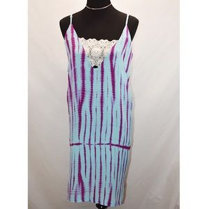 Asos Sleeveless Dress Blue/Purple Patterned Sz 6